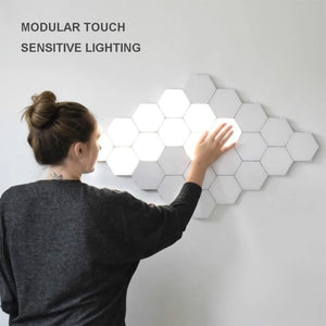 Touch Sensitive Quantum Wall Lamps Magnetic Assembly Modular Lighting for Home Decor