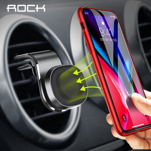 ROCK Magnetic Car Phone Holder 360 Degree Rotation Air Vent Mount Mobile Phone Stand Bracket For iPhone 11 X Samsung S9 Xiaomi