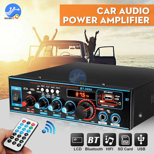 800W Bluetooth Home Amplifier High Power HIFI 12/220V Home Theater Audio FM USB SD Bluetooth Remote Control Subwoofer Stereo