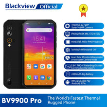 Load image into Gallery viewer, Blackview BV9900 Pro Thermal Camera Mobile Phone Helio P90 Octa Core 8GB+128GB IP68 Rugged Smartphone 48MP Quad Rear Camera