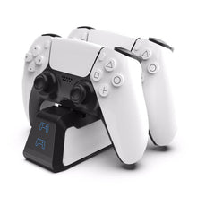 Load image into Gallery viewer, Dual Fast Charger for PS5 Wireless Controller USB 3.1 Type-C Charging Cradle Dock Station for Sony PlayStation5 Joystick Gamepad