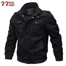 Load image into Gallery viewer, Mens Winter Cotton Bomber Jacket - Stand Collar Air Force Flight Jacket Windbreaker