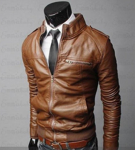 Men's Leather Jackets - Classic Motorcycle Bike Cowboy Jackets