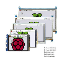 Load image into Gallery viewer, Raspberry pi 3.2/3.5/5/7 inch touch HDMI LCD display module Support Raspberry Pi 2/3 B+
