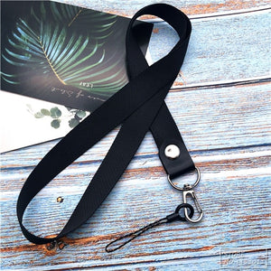 Straps - Metal Clip Hanging Lanyard for iPhone, Camera, USB Holder, ID Pass Card, or Badge.