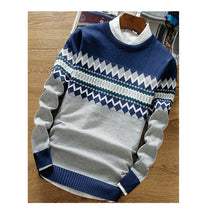 Load image into Gallery viewer, Sweaters - Autumn Winter Patchwork - Knitted Pullover Casual