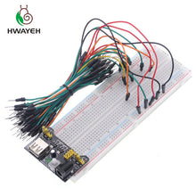 Load image into Gallery viewer, 3.3V/5V +830 points Solderless Prototype Breadboard with power module