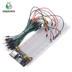 3.3V/5V +830 points Solderless Prototype Breadboard with power module