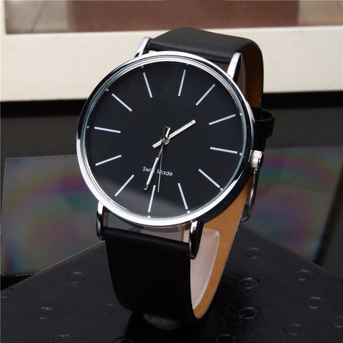 Men's Analog Quartz Watches. Casual Black Clock - Leather Wrist Watch Relogio Masculino