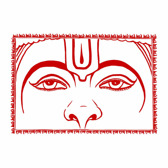 Hanuman Eyes Flag