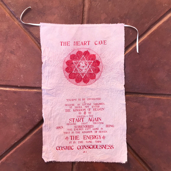 Hand Dyed BHN: Heart Cave Flag