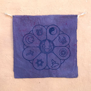 Hand Dyed Meeting Ways Flag