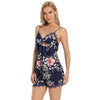 BEL0162- Flower Laced Cami Shorts Slip