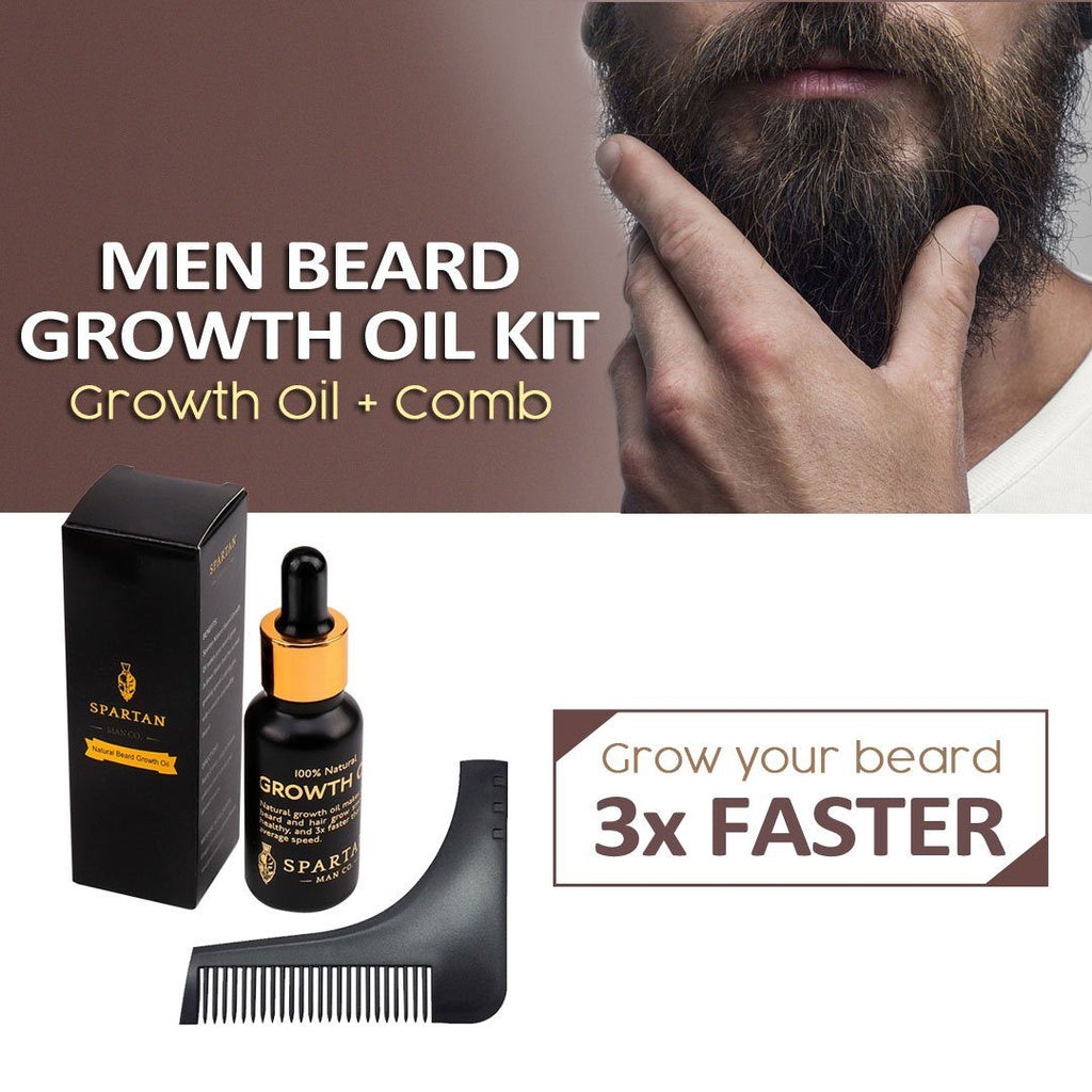 Men Beard Growth Oil Kit