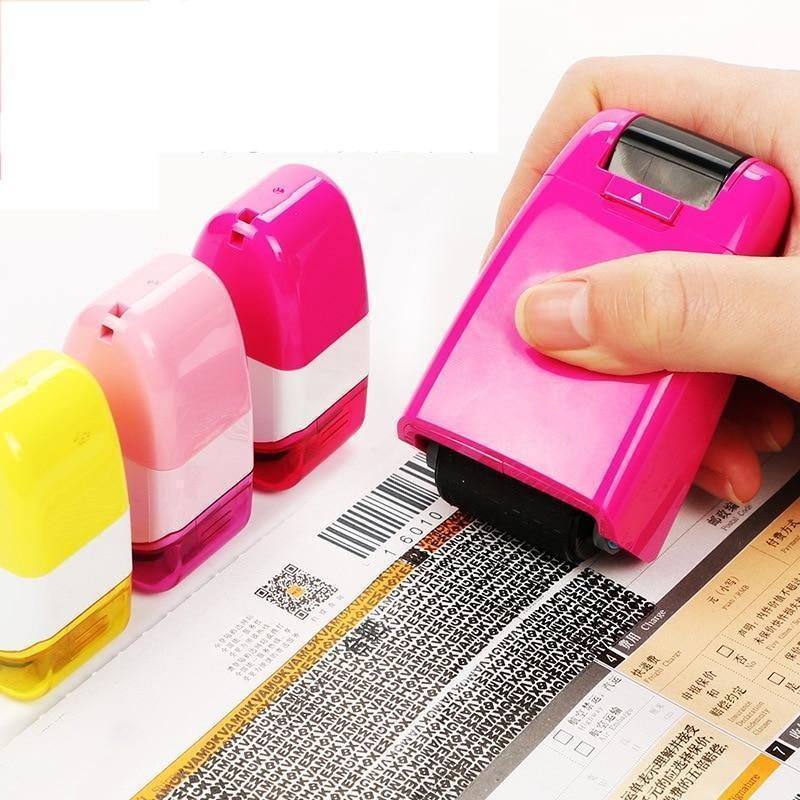 Creative Data Protection Roller Stamp 5 Colors Information Coverage Data Protection Roller Identity Privacy Protector Stamp