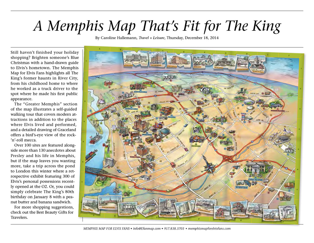 A Memphis Map That\'s Fit for The King — Memphis Map for ...