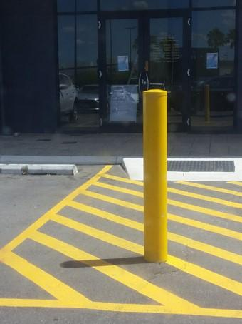 Bollard Powder Coated 150 mm - ZERO CIVIL