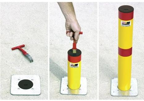 MRWA Bollard Retractable - ZERO CIVIL