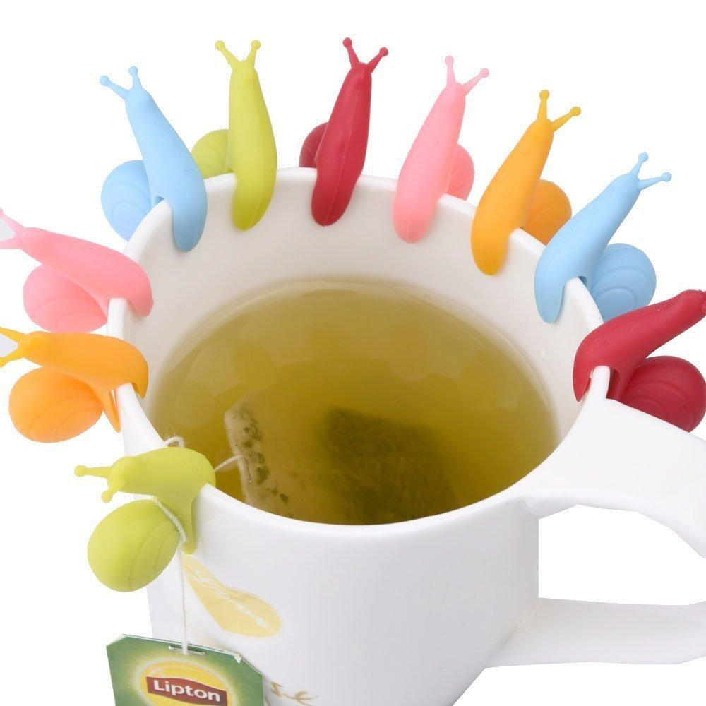 Snail Silicone Tea Bag Hang (5 Pieces Set)