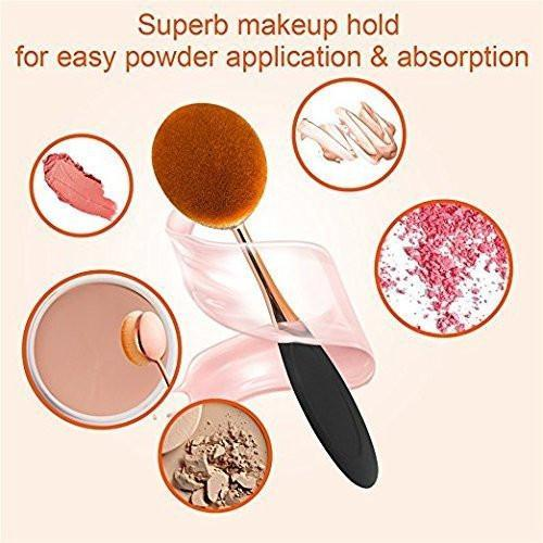 Oval Makeup Brush 10Pcs/Set
