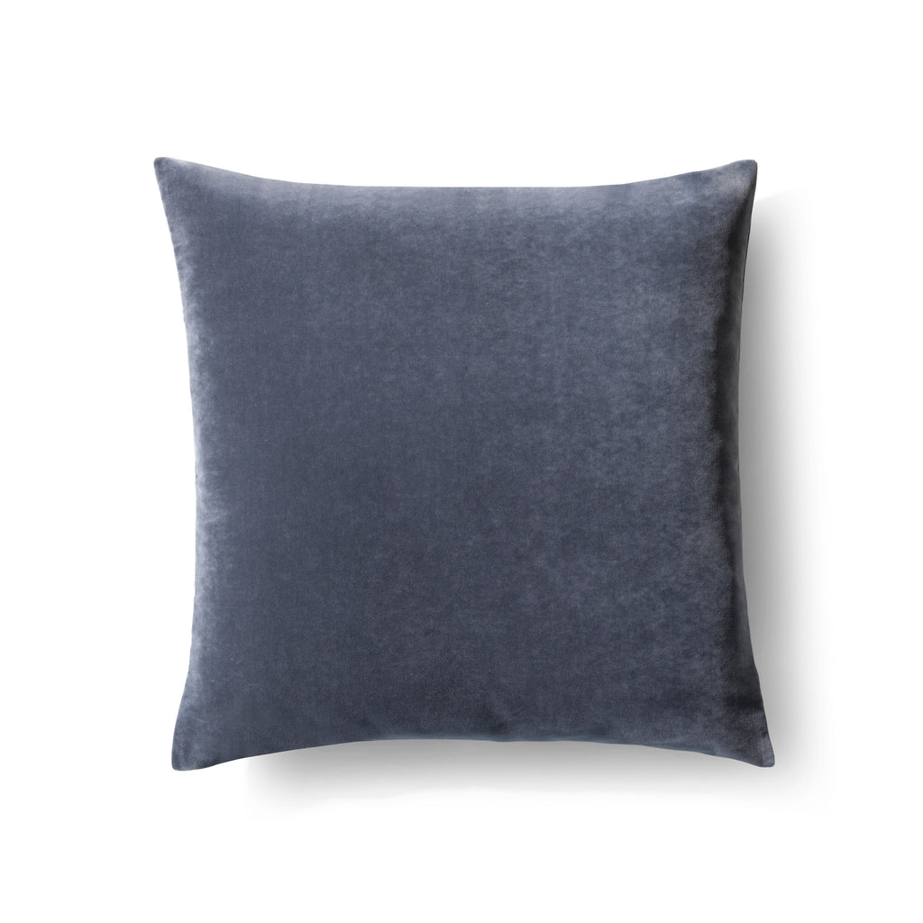 Luxury velvet cushion - Big plain grey