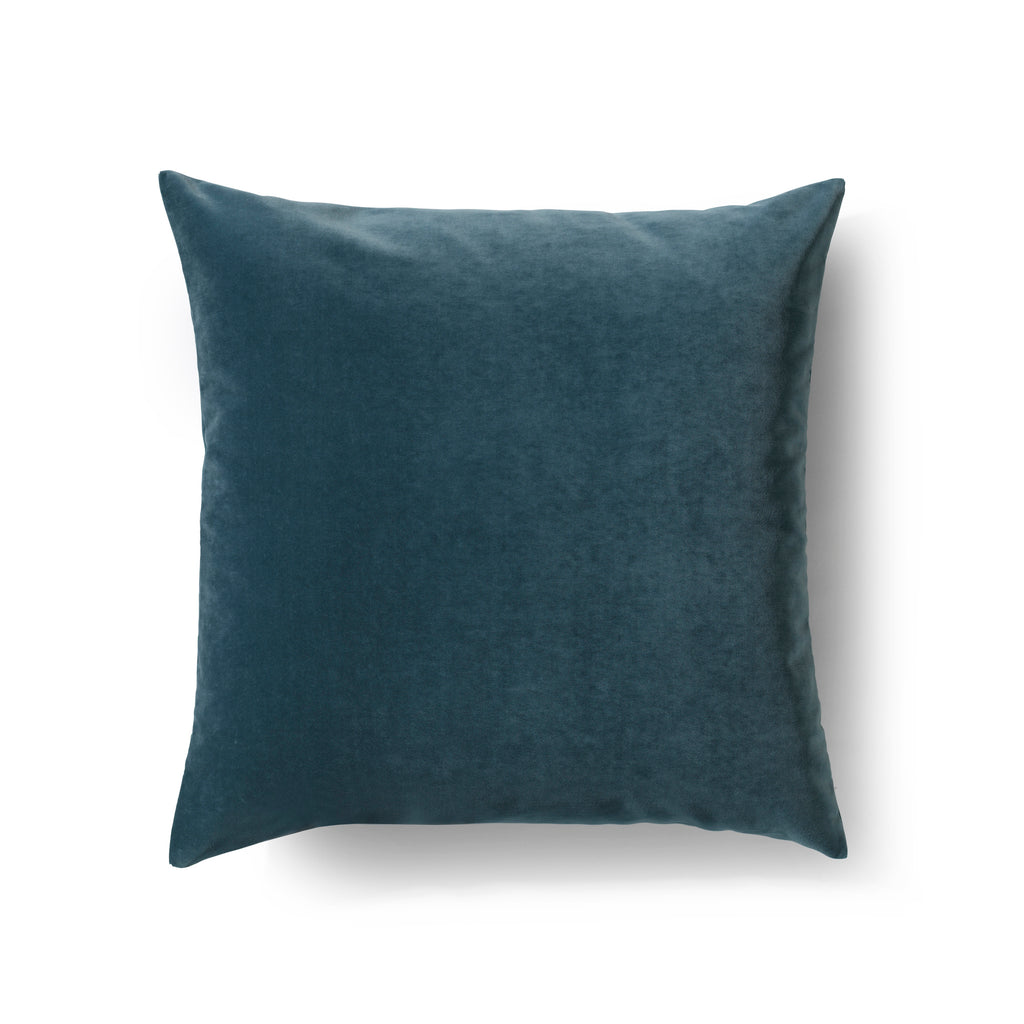 Luxury velvet cushion - Big plain aqua
