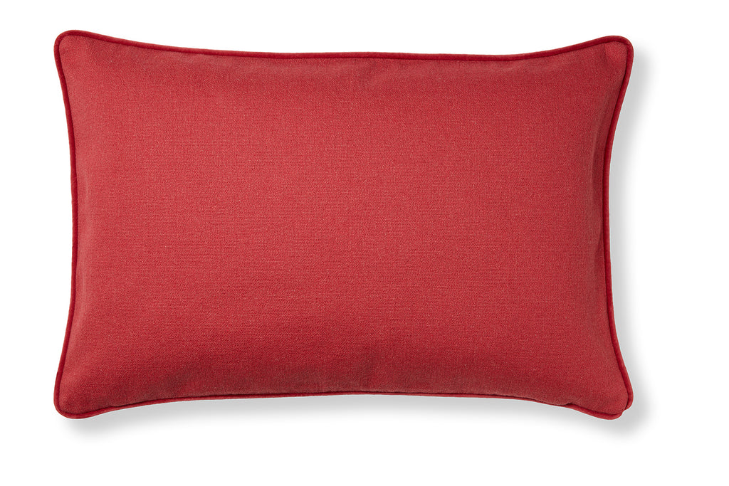 Classic and soft cotton cushion - Maps red