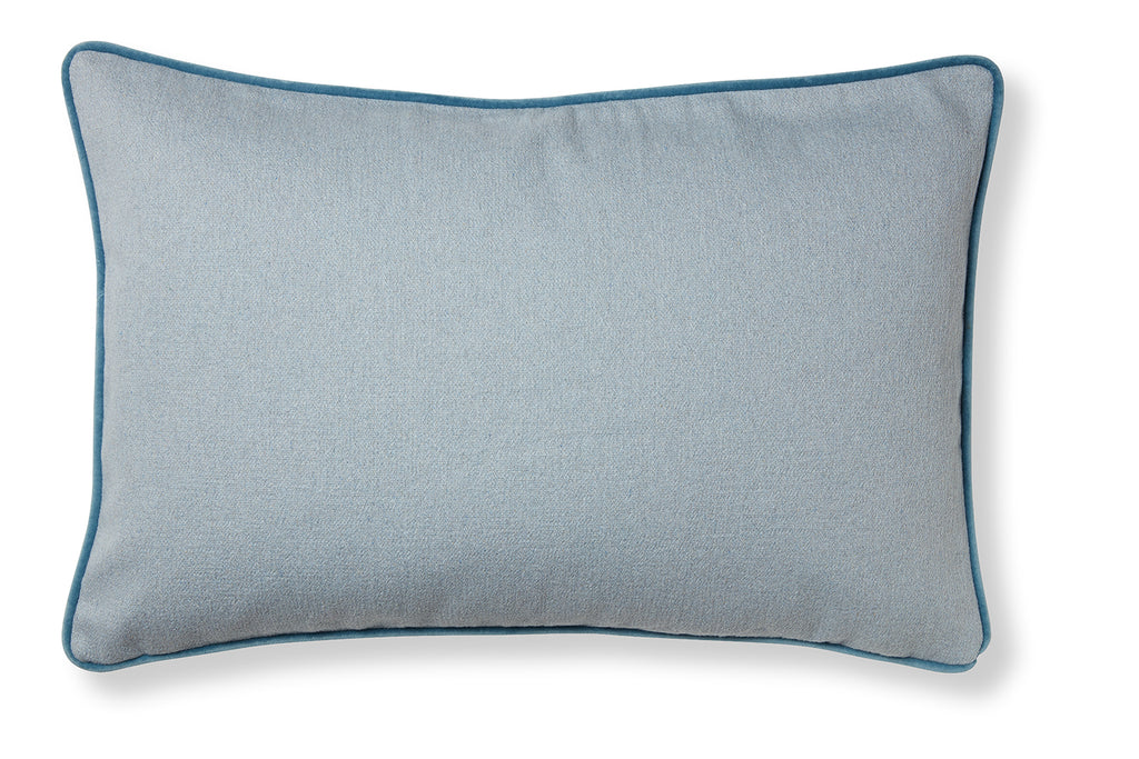 Classic and soft cotton cushion - Maps blue