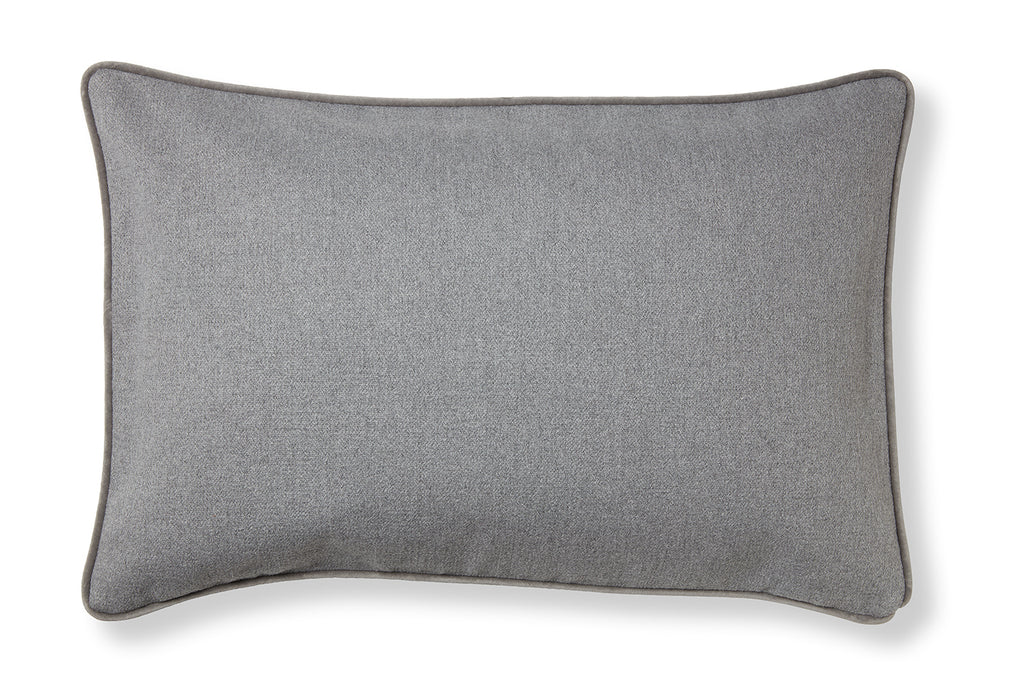 Classic and soft cotton cushion - Maps grey
