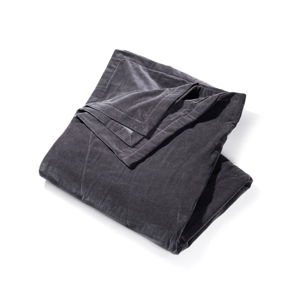 Soft and luxury bedspread - Leaflet dark grey