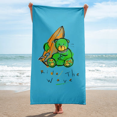 Ride The Wave Max the Teddy Bear Towel