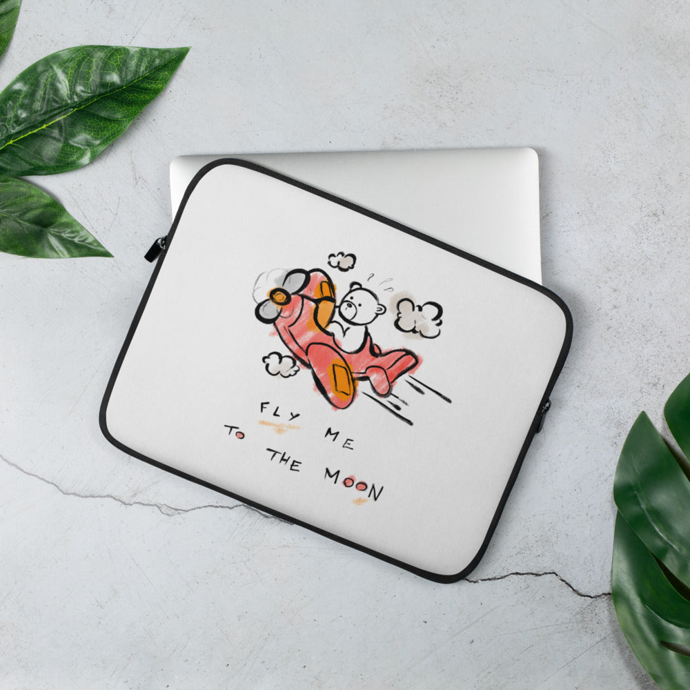 Fly Me to the Moon! Laptop Sleeve