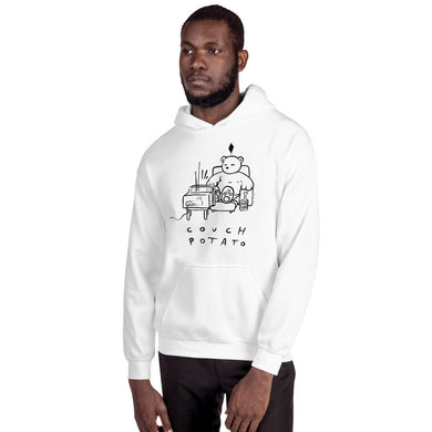 Couch Potato Max the Teddy Bear Unisex Hoodie
