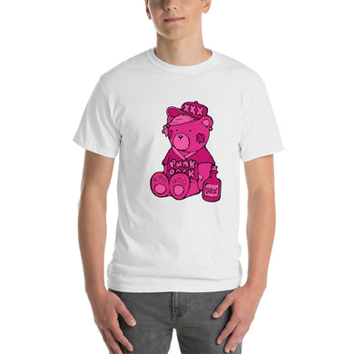 Punk Rock Max the Bear Short Sleeve T-Shirt (pink)