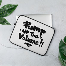 Load image into Gallery viewer, Pump Up The Volume! Laptop Sleeve Black