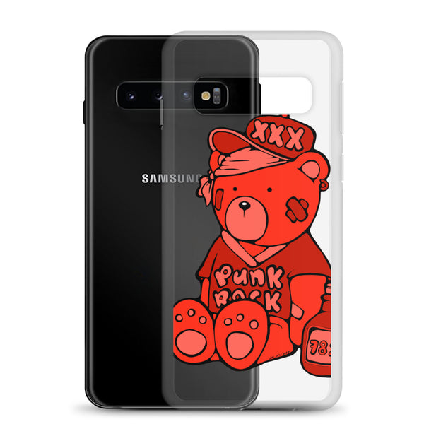 Punk Rock Teddy Bear - Red - Samsung Case