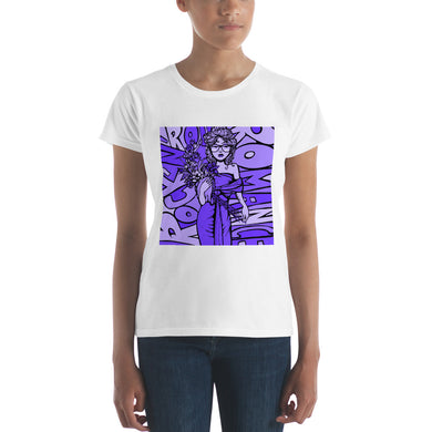 Women's Funky Purple Short Sleeve T-Shirt