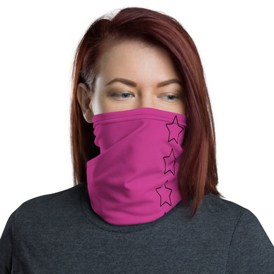 Unisex - One Size Fits All, Washable and Reusable. All Pink Neck Gaiter -Star