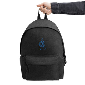 Ride the Waves! Max the Teddy Bear Embroidered Backpack