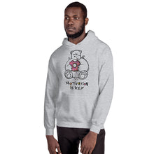 Load image into Gallery viewer, Motivation is Key Max the Teddy Bear Unisex Hoodie