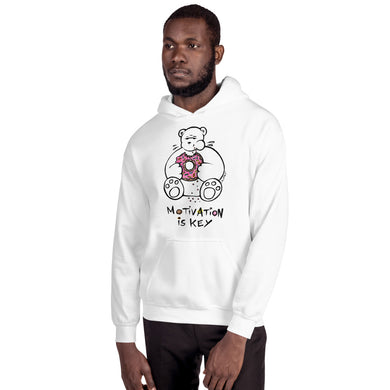 Motivation is Key Max the Teddy Bear Unisex Hoodie