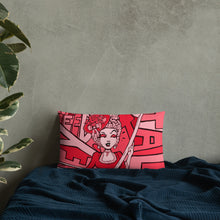 Load image into Gallery viewer, Honey We Need To Talk! Premium Pillow (pink)