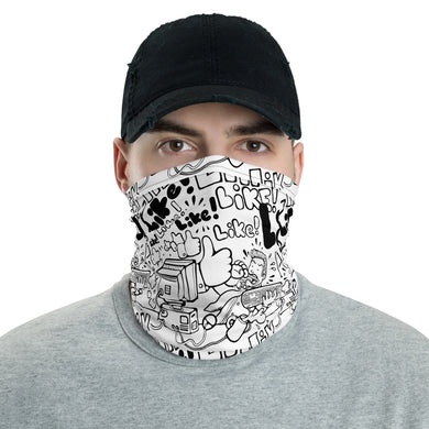 Unisex - One Size Fits All, Washable and Reusable - Super Like! Neck Gaiter