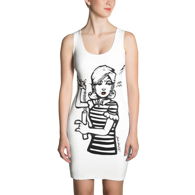 Honey We Need To Talk! Sketch Sublimation Cut & Sew Dress