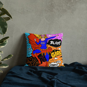 Super Girl Premium Pillow