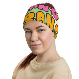 Unisex - One Size Fits All, Washable and Reusable - Super Rock Girl Full Colour Neck Gaiter