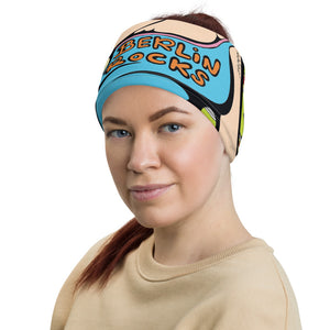 Unisex - One Size Fits All, Washable and Reusable - Berlin Rocks! Neck Gaiter