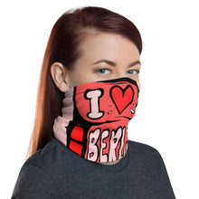 Load image into Gallery viewer, Unisex - One Size Fits All, Washable and Reusable, I Love Berlin! Neck Gaiter (Red)