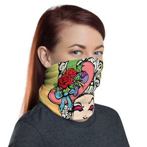 Unisex - One Size Fits All, Washable and Reusable - Marie- Antoinette Neck Gaiter