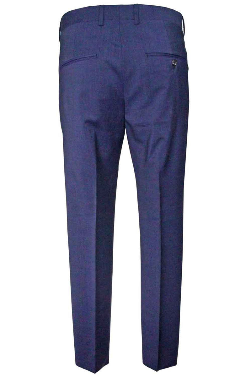PANTALONE BE ABLE IN FRESCO LANA COLORE BLU ALEXANDER SHORTED SMO 19BLU - Pantaloni e jeans - BE ABLE  - Manida Shop Online-[variant_SKU]- [product_description]